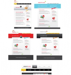 Several web templates vector