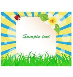Sheet paper decorated with plants vector