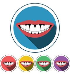 Smile icon flat design vector