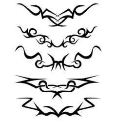 Tattoo tribal set vector image