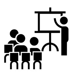 team work conference icon simple style vector image