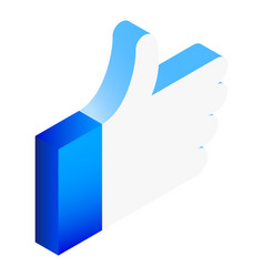 thumb up icon isometric style vector image