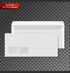 two blank envelopes - opened an closed vector image