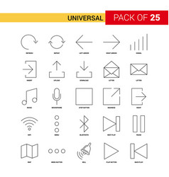 universal black line icon - 25 business outline vector image