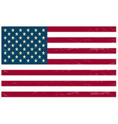 usa flag red vector image