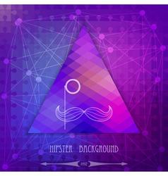 Vintage triangular hipster background vector image