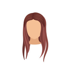 woman s head with long straight hair stylish vector image