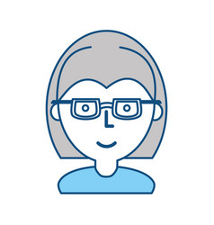 Woman with glasses cartoon vector