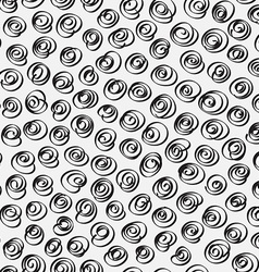Doodle abstract pattern Black and white colors vector image vector image