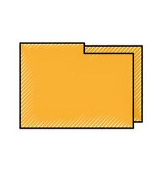 folder file document information digital app icon vector image