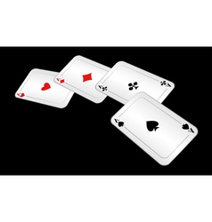 Four playing cards vector