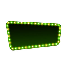green street signboard blank 3d retro light sign vector image vector image