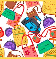 hand bag seamless pattern vector image