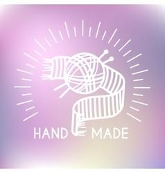 Hand made logo vector image vector image