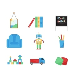Set of different cartoon toys vector image vector image