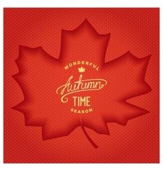 3D Autumn banner vector image