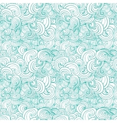Big seamless pattern with turquoise or blue vector image