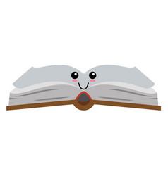 book cute cartoon vector image vector image