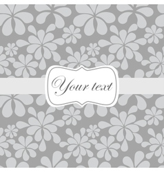Cute vintage card invitation vector image vector image