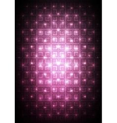 Digital pink background vector image vector image