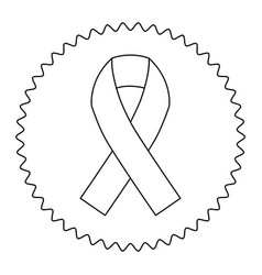 emblem breast cancer ribbon image vector image