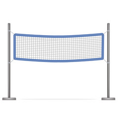 realistic detailed 3d volleyball net vector image
