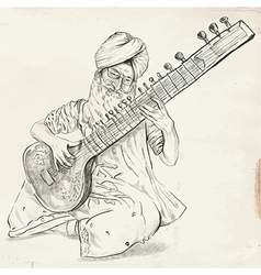 Tanpura Player - converted vector image