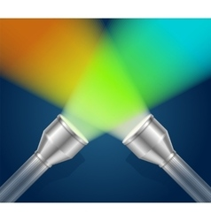 Two Pocket Torch Light vector image vector image