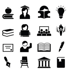 College university icons vector image