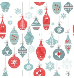 Vintage seamless pattern with Christmas decoration vector image vector image