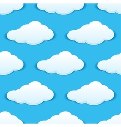 Cloudy sky seamless pattern vector image vector image