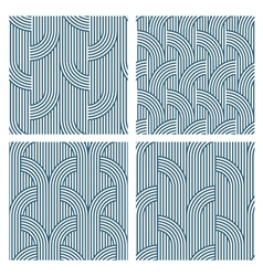 Four Geometric striped seamless patterns vector image vector image