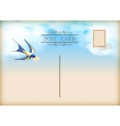 Sky Bird Letter Mail Postcard vector image vector image
