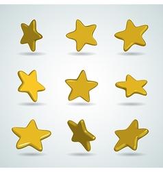 stars set vector image vector image