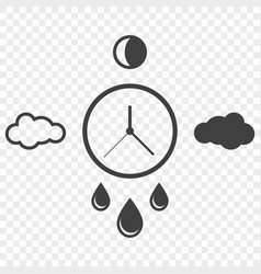 abstract icon of time and weather changes around vector image