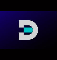 abstract letter d or ed logo design vector image