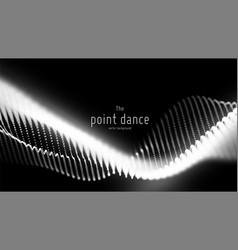 Abstract monochrome particle wave points vector