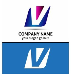 Alphabetical Logo Design Concepts Letter V vector