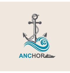 Anchor symbol image vector