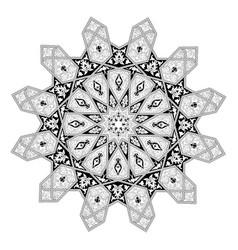 Arabian floral pattern motif vector