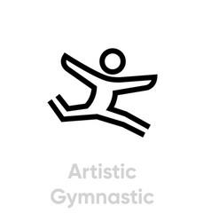 artistic gymnastic icon vector image