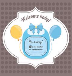Baby shower card happy invitation vector