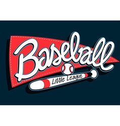 Baseball league childrens banner background vector image