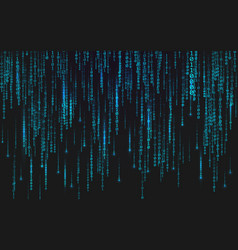 binary matrix background falling digits on dark vector image