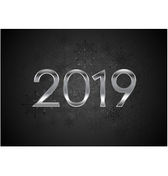 black new year 2019 abstract background vector image