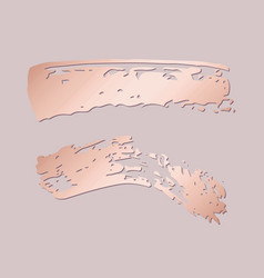 brush strokes with imitation rose gold vector image