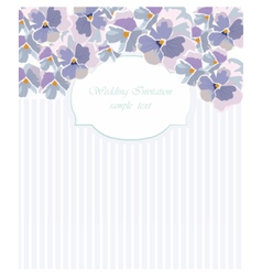 Card with Watercolor Geranium flower frame vector