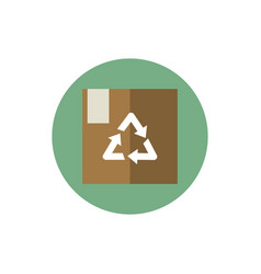 cardboard box package recycle green energy block vector image