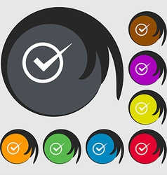 Check mark sign icon Checkbox button Symbols on vector image