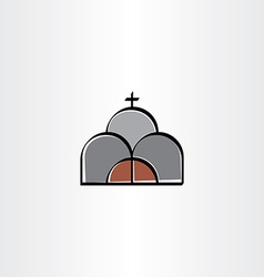 Church stylized icon sign vector